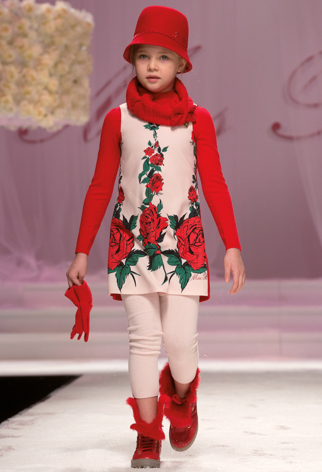 Miss blumarine winter 2014 pitti bimbo 78 catwalk