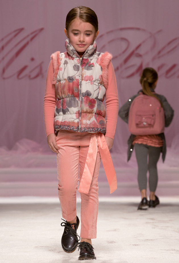 Miss Blumarine winter 2014, pink and grey floral print