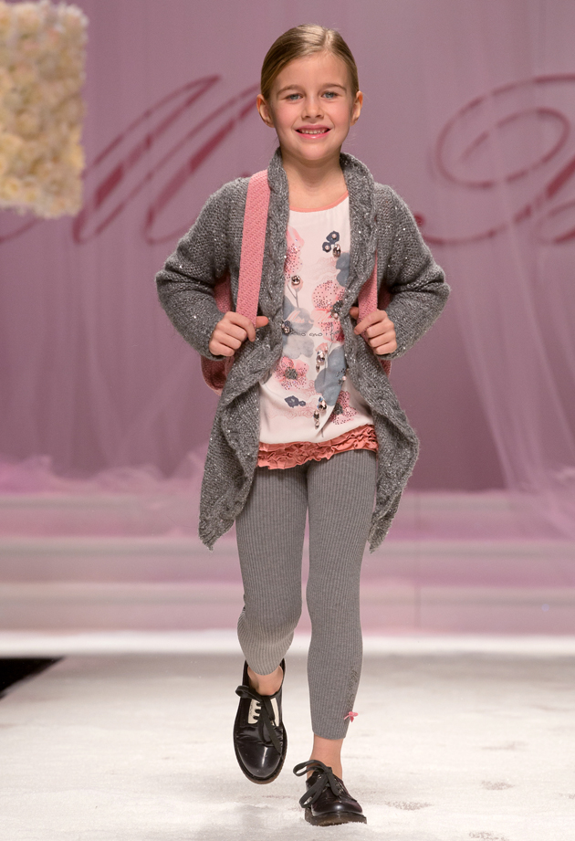 Miss Blumarine winter 2014, romantic pink and grey look