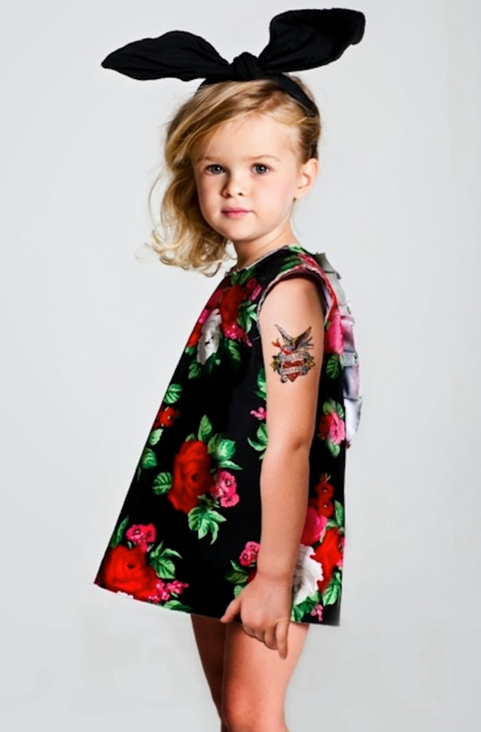 "MSGM Kids winter 2014 ""rock flowers"" theme"