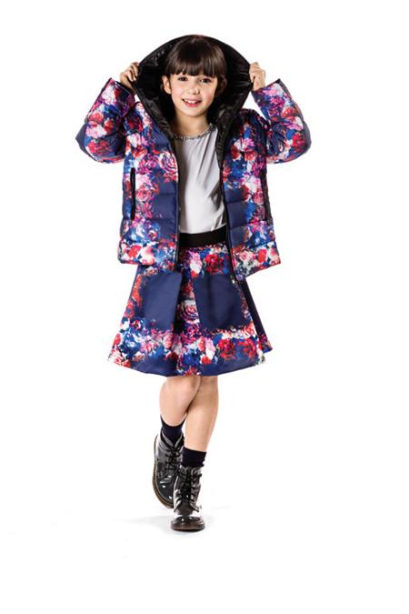 """MSGM Kids winter 2014 """"blurred flowers"""" theme"""