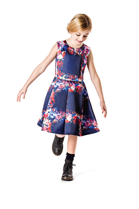 MSGM Kids winter 2014 sleeveless dress with flowers