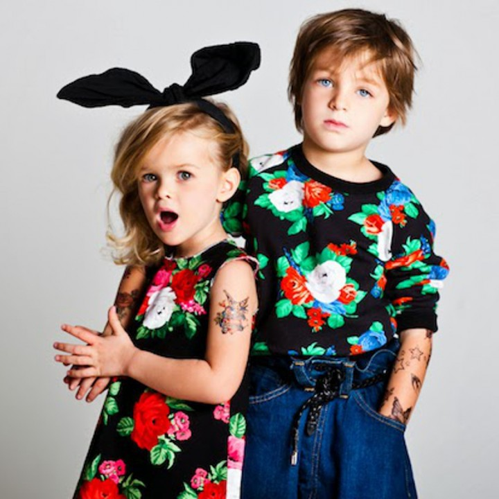 MSGM kids flowers for the debut collection