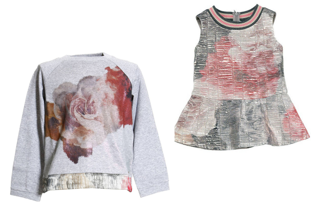 Simonetta winter 2014, grey sweatshirts with roses