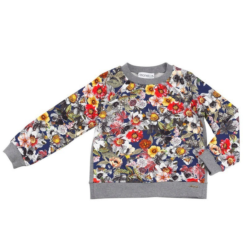 Simonetta winter 2014, bright floral print sweatshirt
