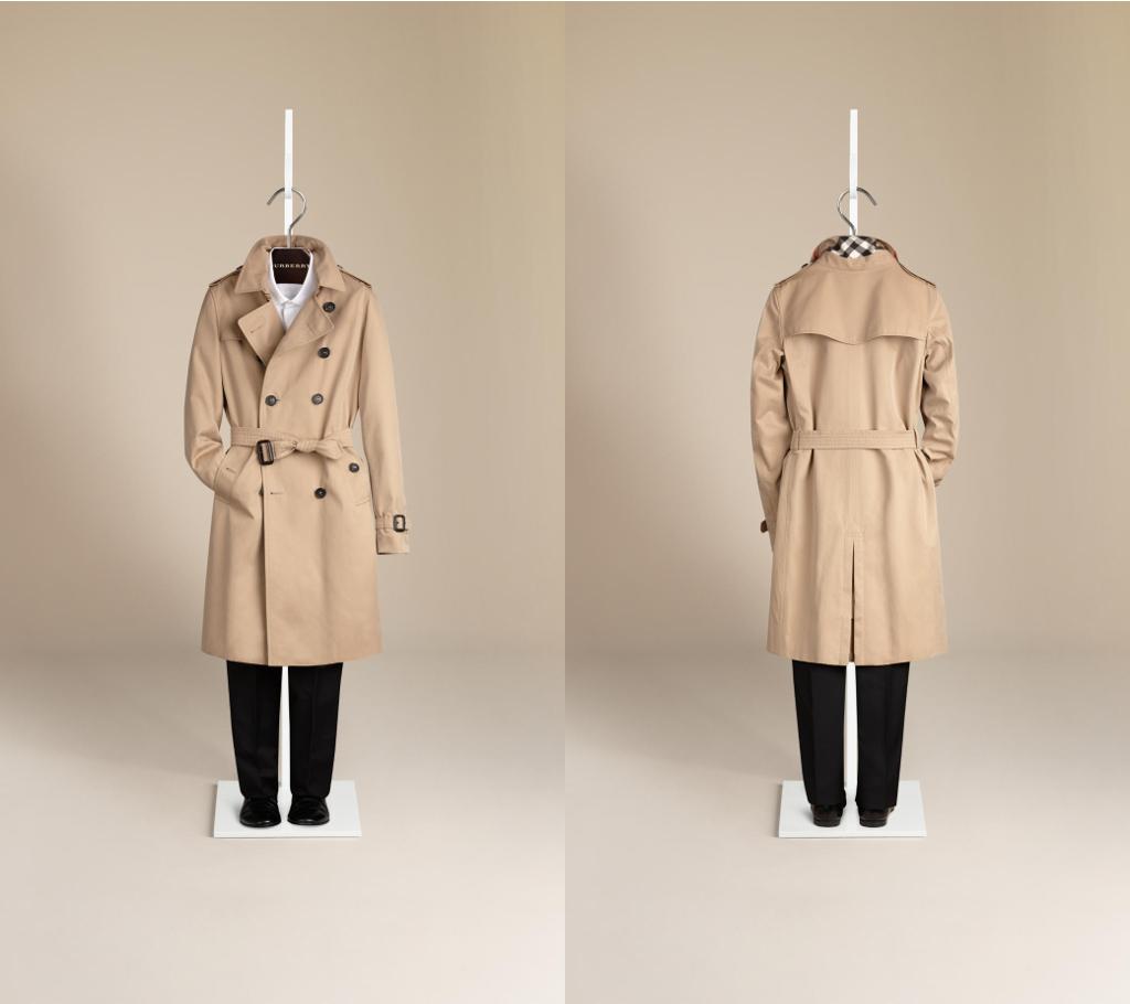 Burberry winter 2014 Sandringham trench coat