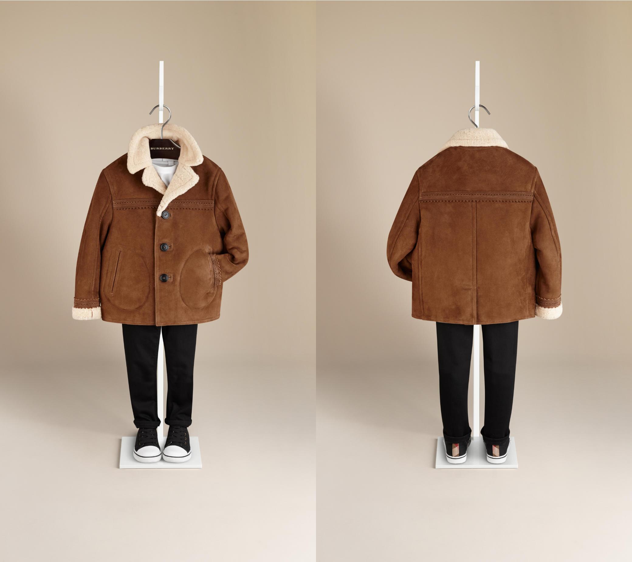 Burberry winter 2014 suede jacket