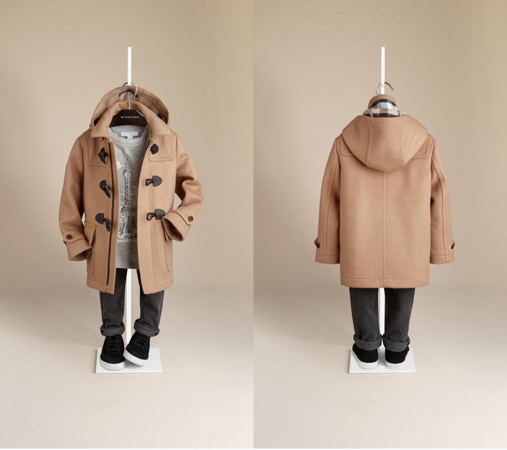 Burberry winter 2014 wool duffle coat