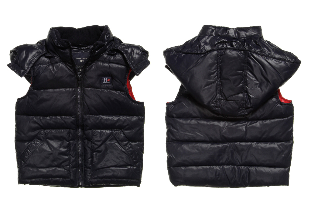 Silvian Heach Kid winter 2014 blue down padded jacket