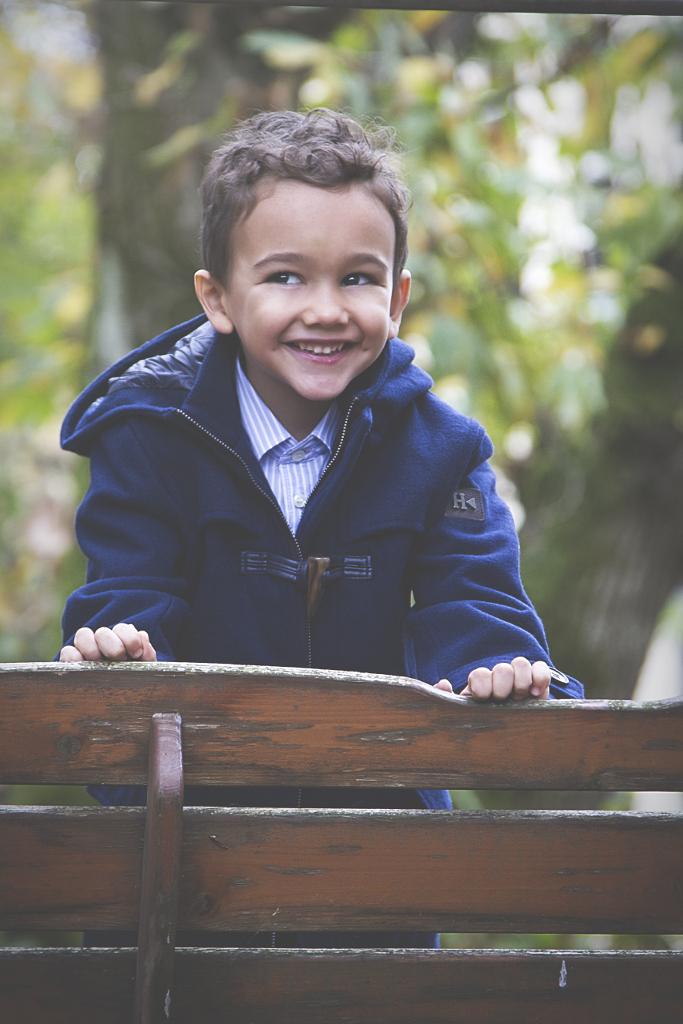 Silvian Heach Kids winter 2014 navy blue coat