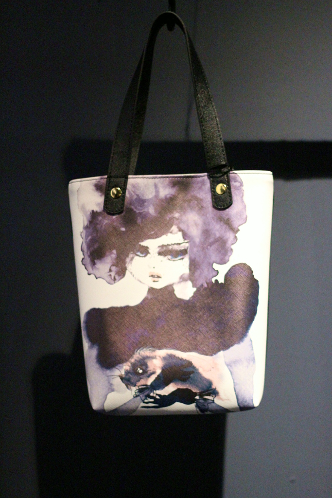 Pitti Bimbo 80, winter 2015 Jerboa tote bag with Tashi print