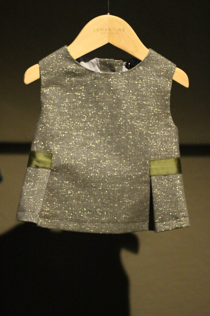 Pitti Bimbo 80, winter 2015 Lamantine Paris & Milan tiny sparkling dress.