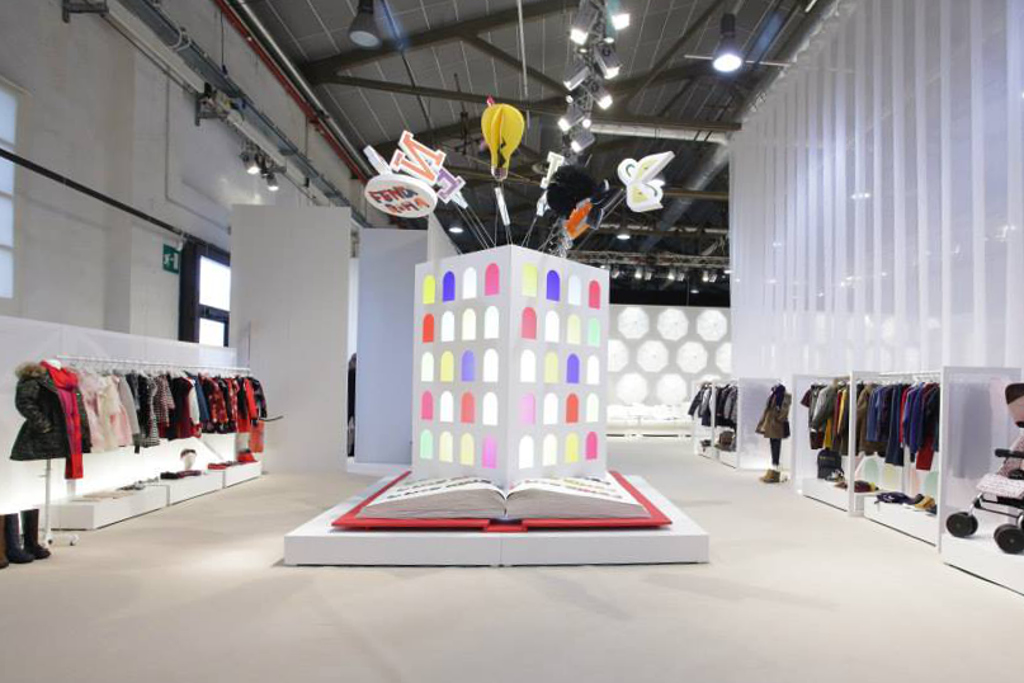 Fendi Kids stand at Pitti Bimbo 80.