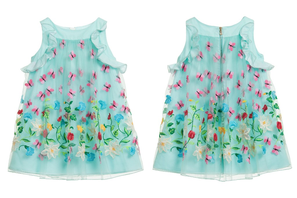 I Pinco Pallino spring 2015, sleeveless dress with butterflies and flowers
