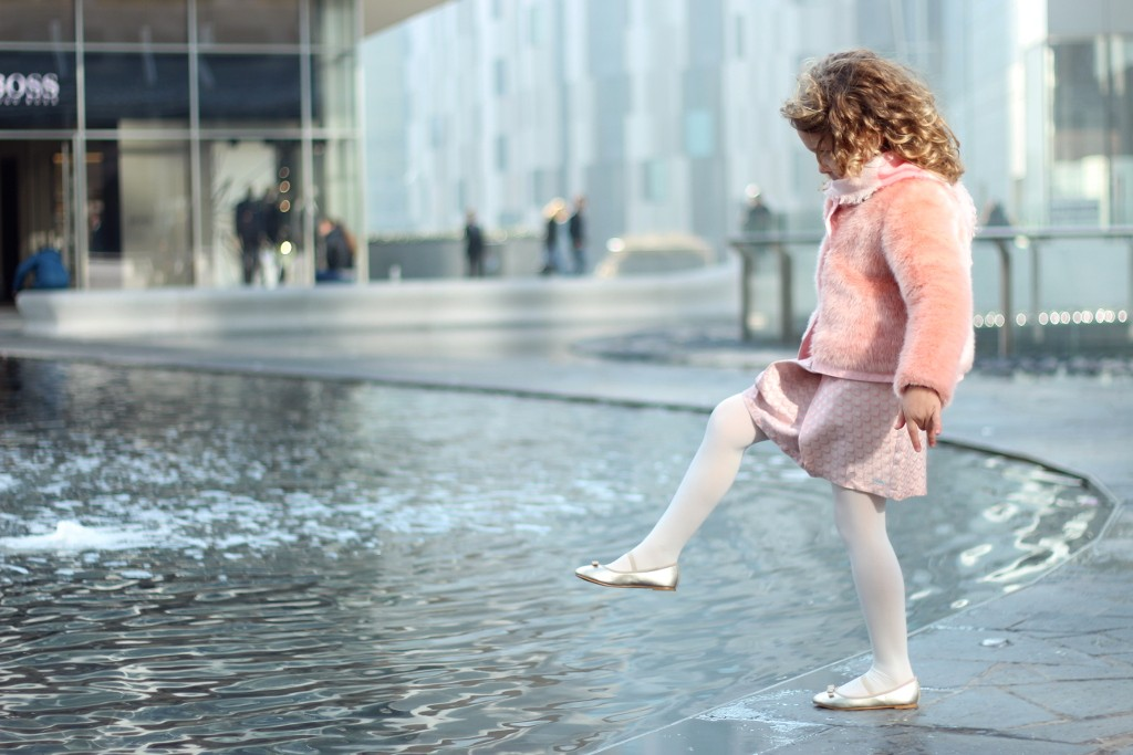 kenzo kids pink skirt and pink fur