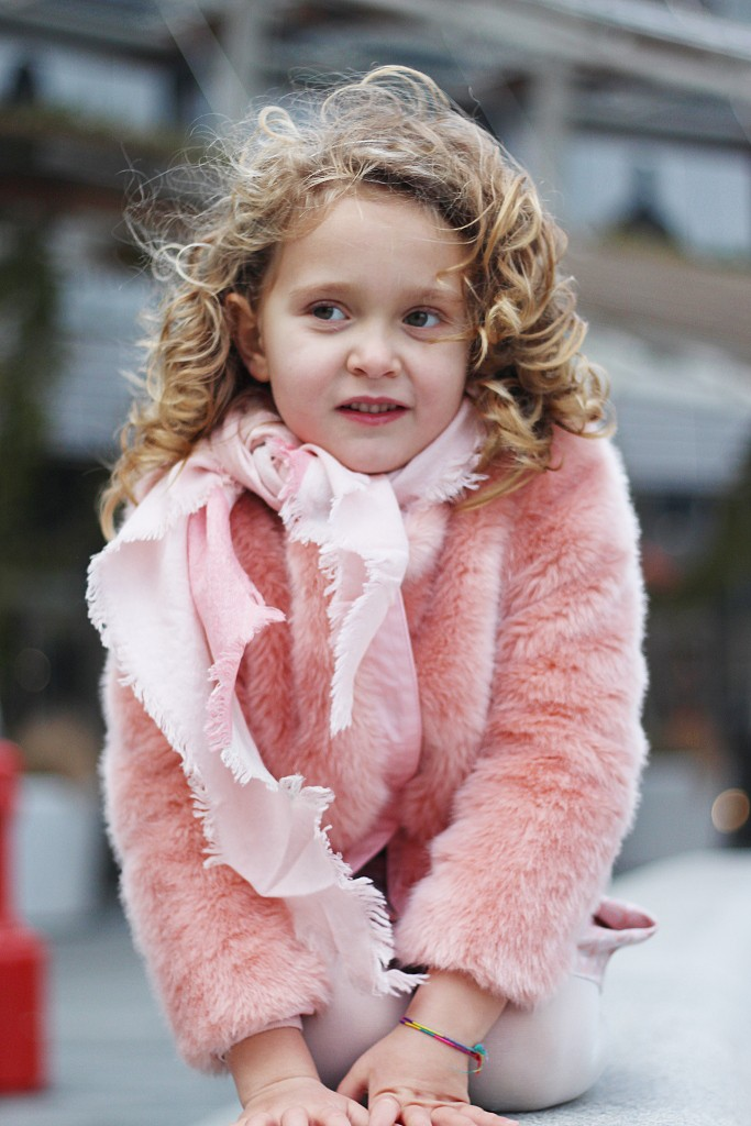 kenzo kids pink skirt and matching fur