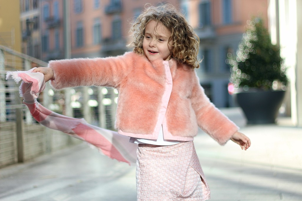kenzo kids pink skirt and coat