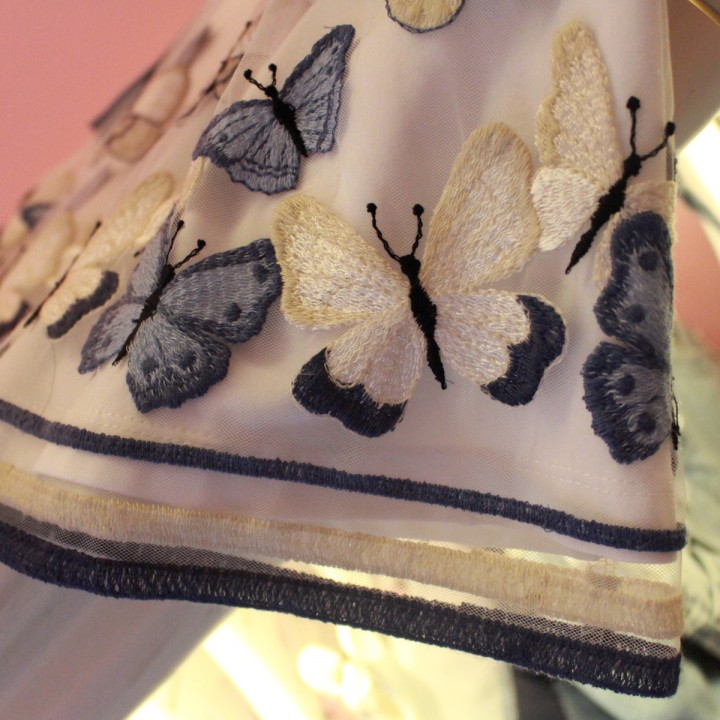 Monnalisa butterflies symphony in beige and blue
