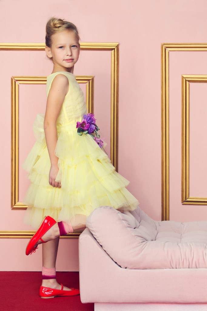 Aletta sartoria spring 2015 yellow tulle dress