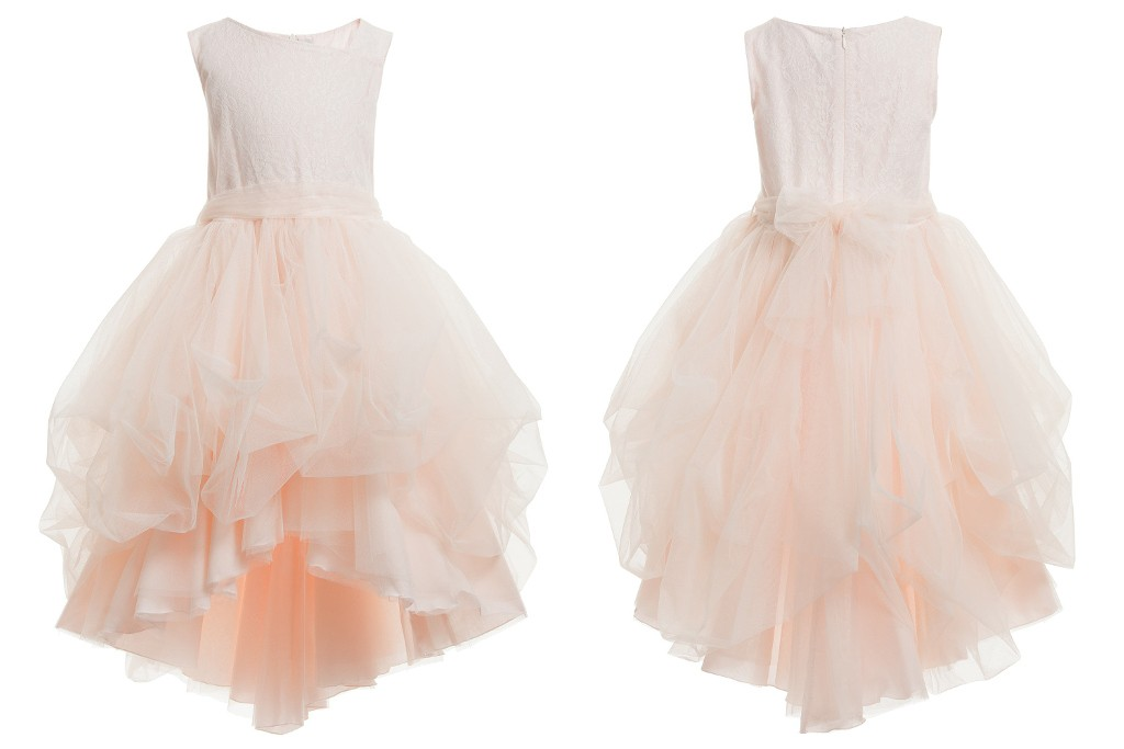 Aletta couture spring 2015 pale peach party dress