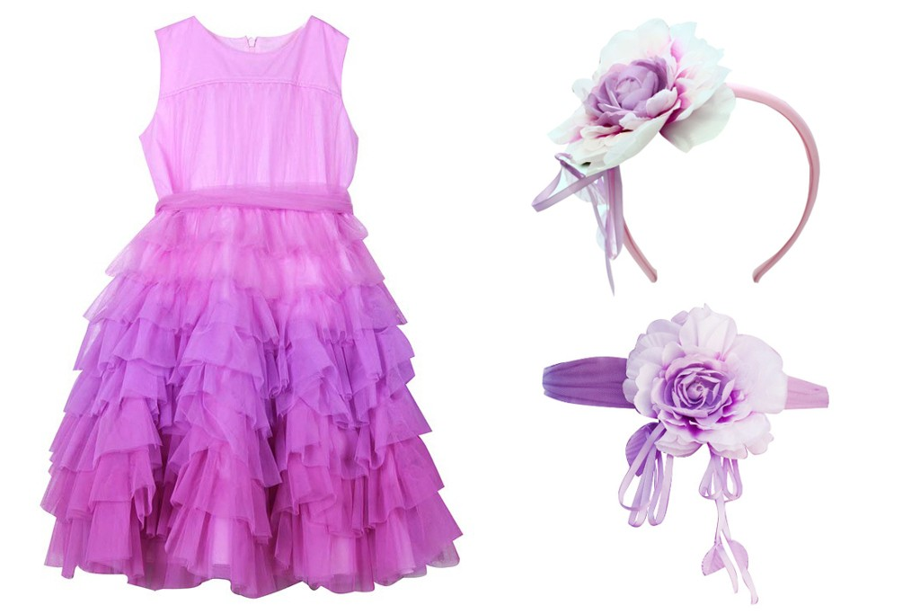 Aletta couture spring 2015 lilac sleeveless tulle dress