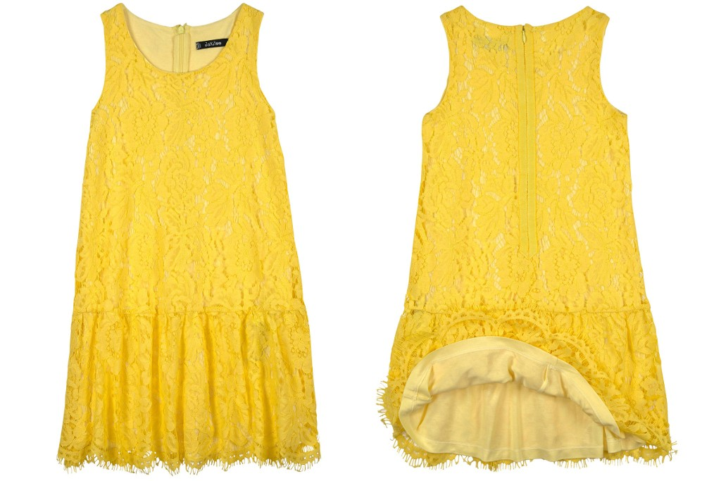 Monnalisa Jakioo spring 2015 yellow sleeveless dress