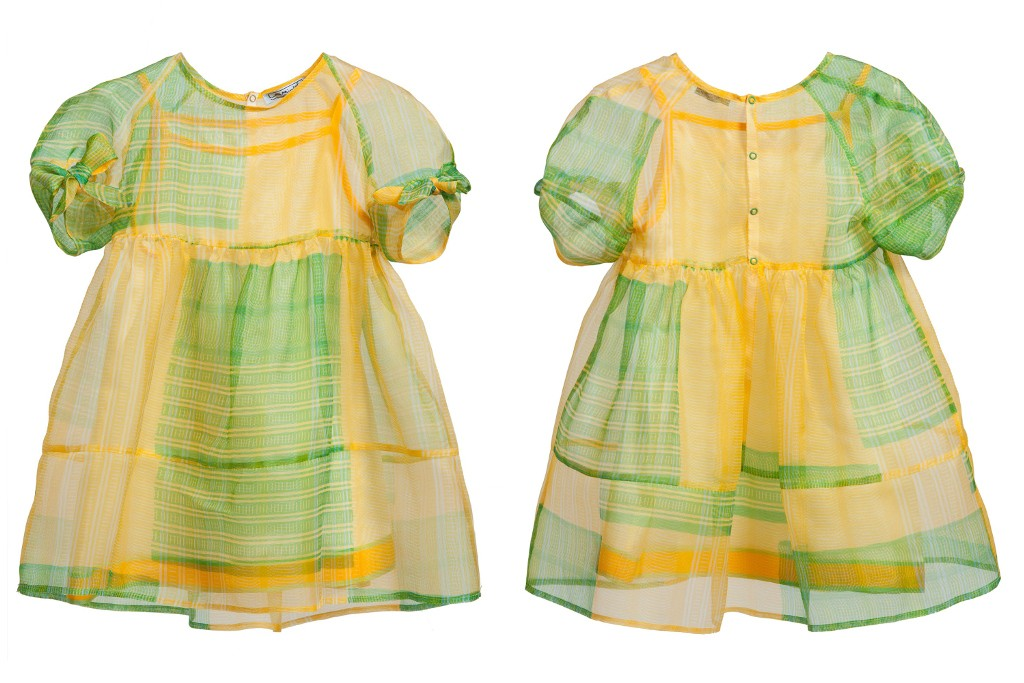 Mimisol spring 2015, yellow and green checked dress