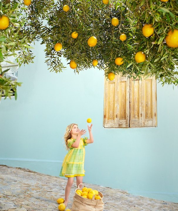Vogue Bambini cover story: yellow