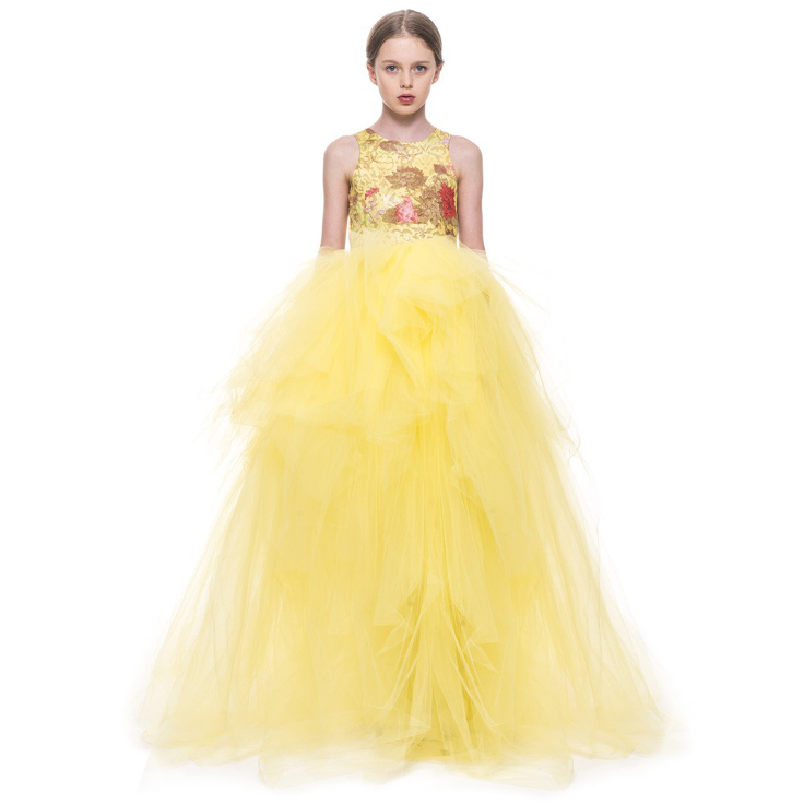 "Mischka Aoki spring 2015, ""Dancing with the prince"" yellow dress"