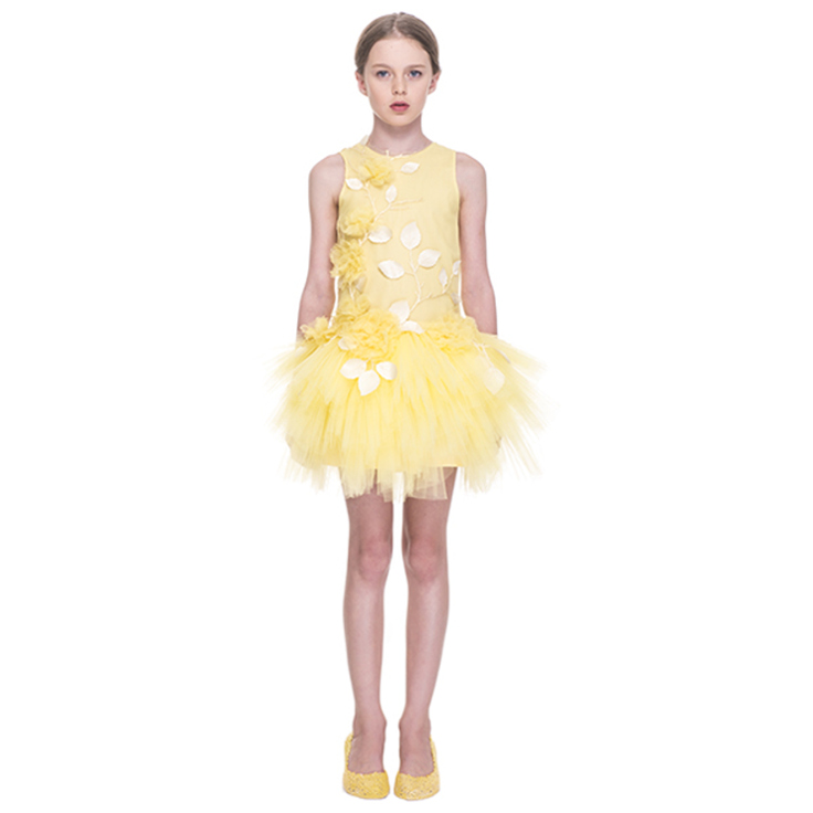 "Mischka Aoki spring 2015, ""She is stunning isn't she"" yellow dress"