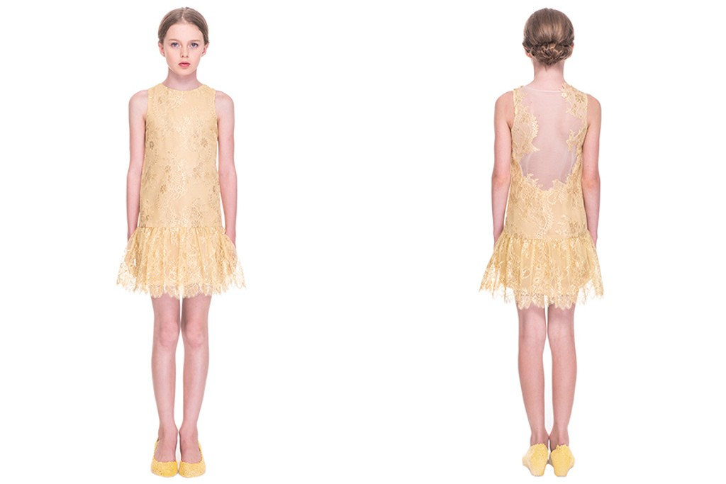 "Mischka Aoki spring 2015, ""But I love her"" yellow dress"