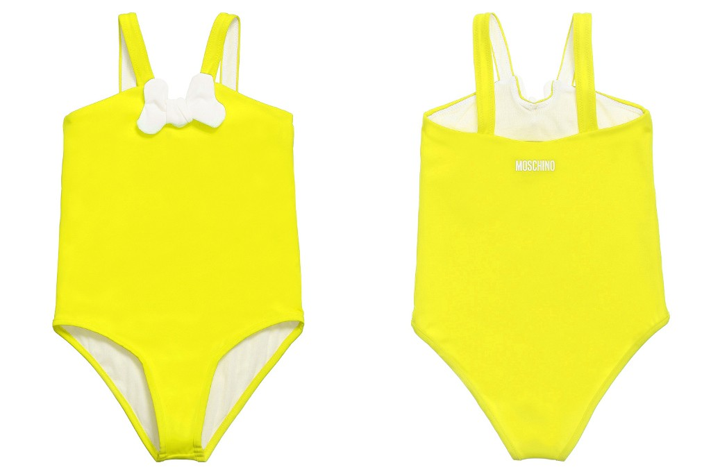 Moschino Kid bright yellow swimming suit spring 2015