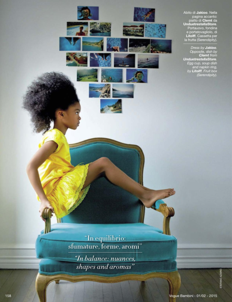 "Vogue Bambini Jan/Feb issue 2015 – ""Cover story: yellow"""
