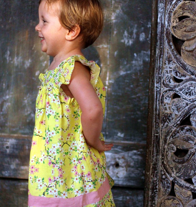 Back to Africa with Zara kids yellow outfit