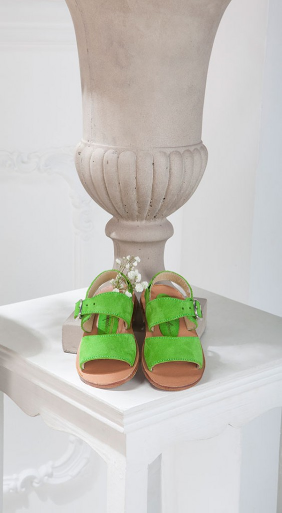 La Stupenderia apple green sandals spring 2015