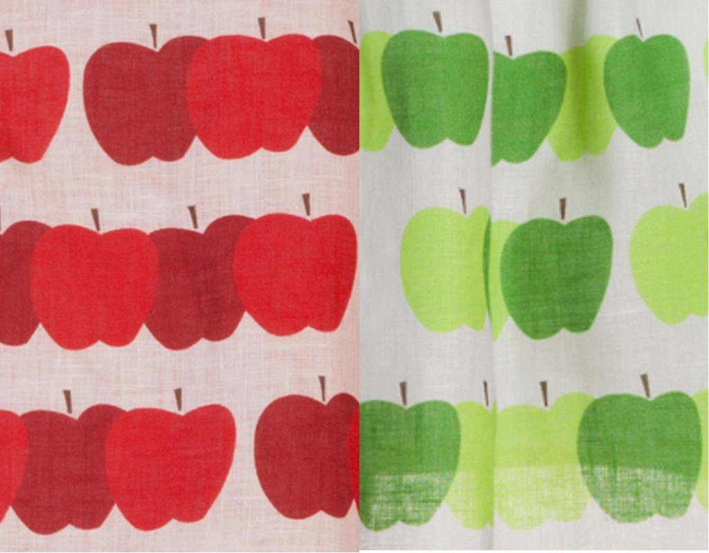 La Stupenderia red and green apple print spring 2015