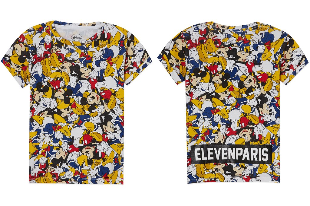 Little Eleven Paris Mickey Mouse and Donald Duck t-shirt