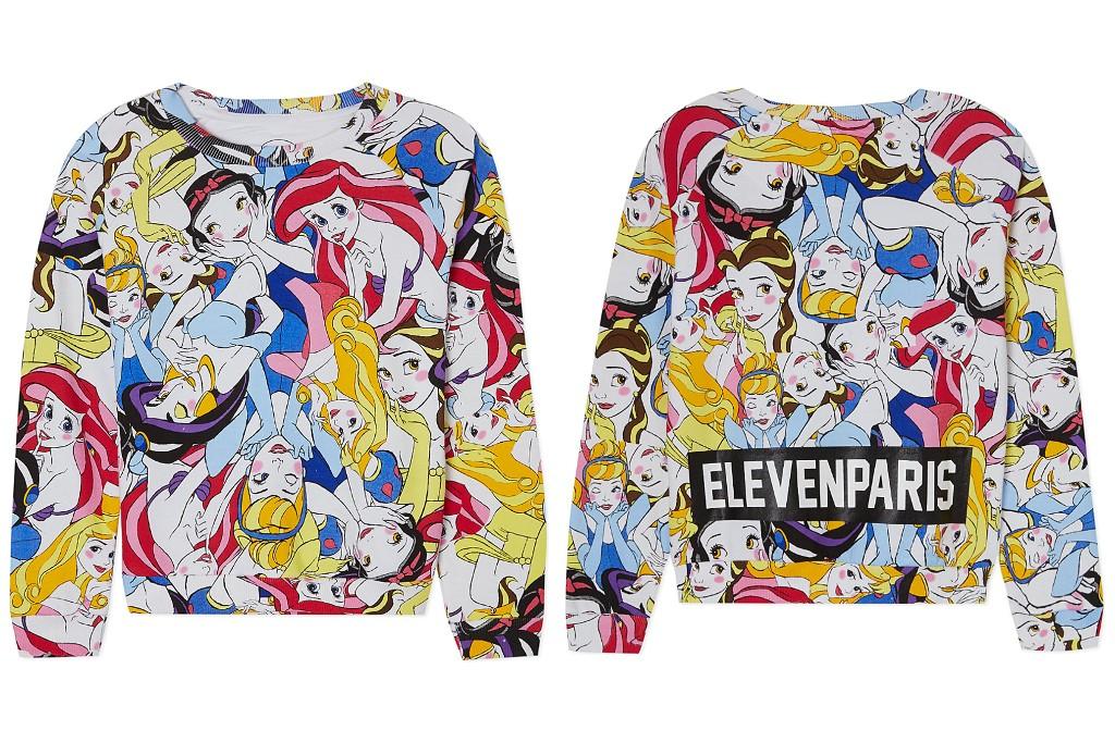 Little Eleven Paris Disney princesses print sweater