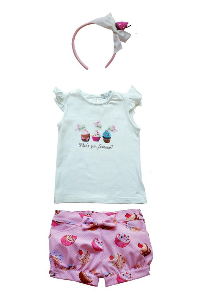 Magil spring 2015 white tank top and shorts from the cupcakes line