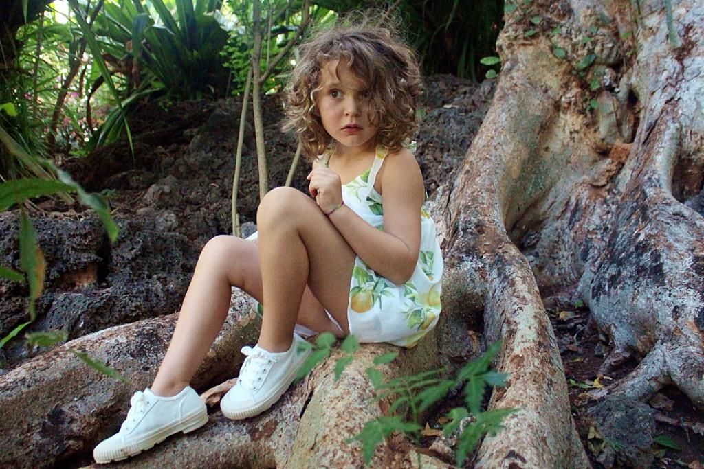 roberto cavalli junior lemon print dress for spring 2015