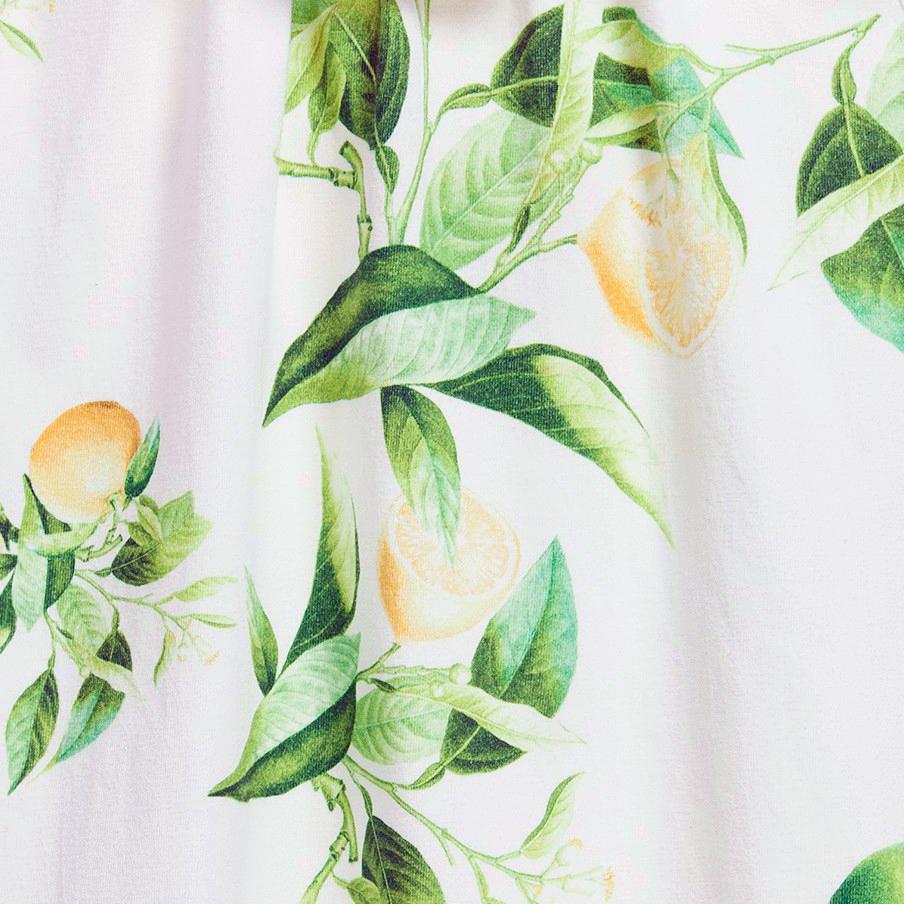 roberto cavalli junior yellow citrus print for spring 2015