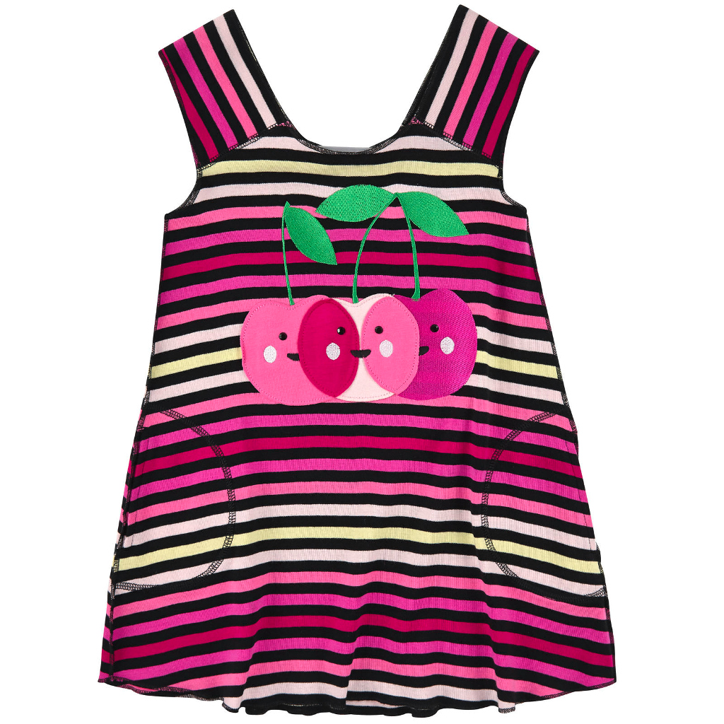 Rykiel Enfant Spring 2015 striped dress with cherries