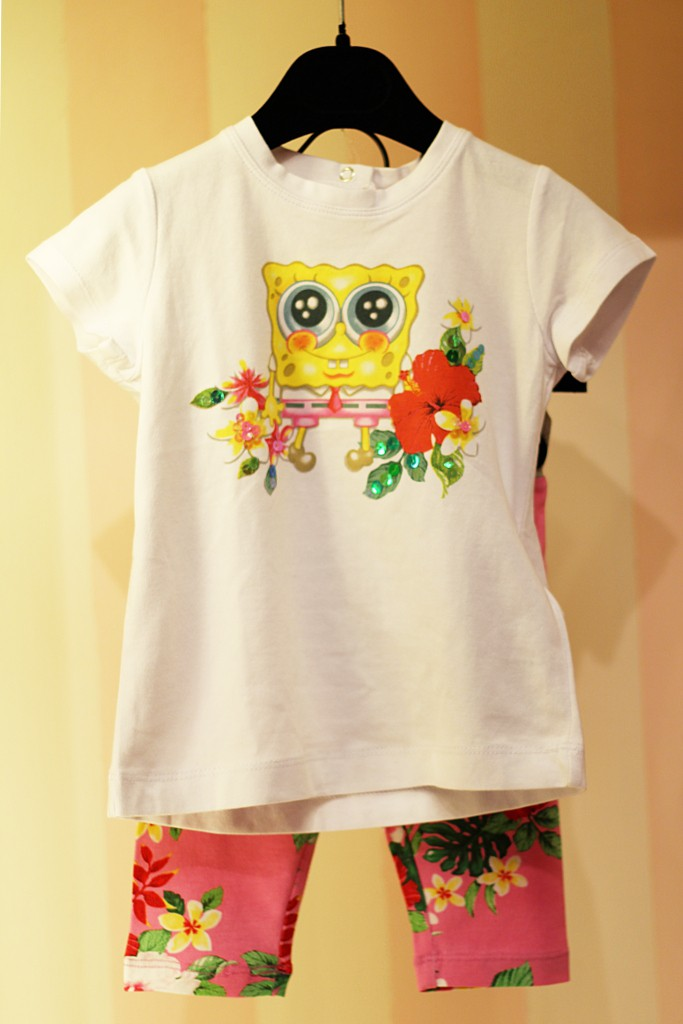 Monnalisa t-shirt with Spongebob spring 2015