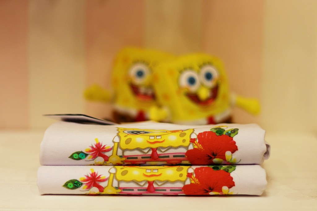 Monnalisa Fun spring 2015, baby girls t-shirts with Spongebob