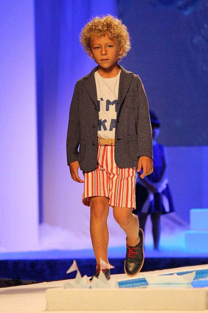 Pitti Bimbo 79, Italian baby model during Il Gufo catwalk