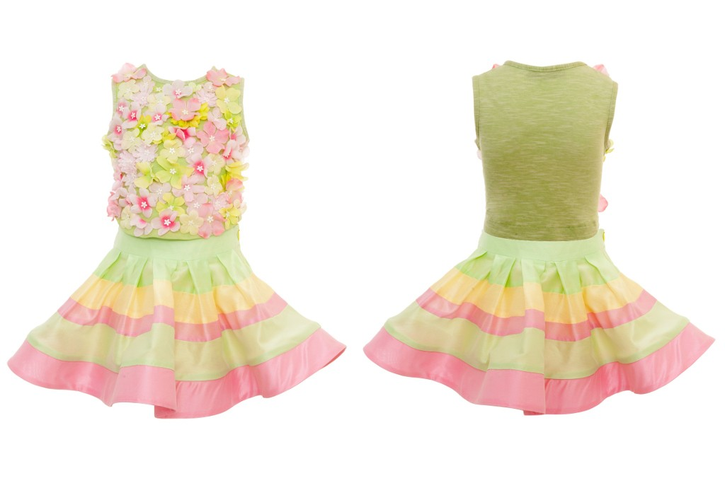 Quis Quis flowers top and skirt