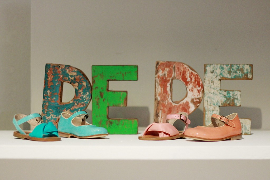 Pitti Bimbo 81, spring summer 2016. PèPè children shoes stand
