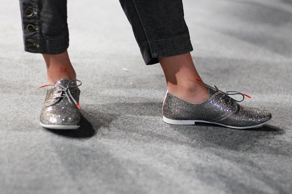 Glittering shoes during Manila Grace fashion show 2016