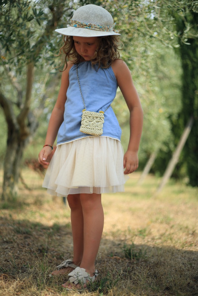 Ralph Lauren spring 2015 girls' tank with tulle skirt and marni bag
