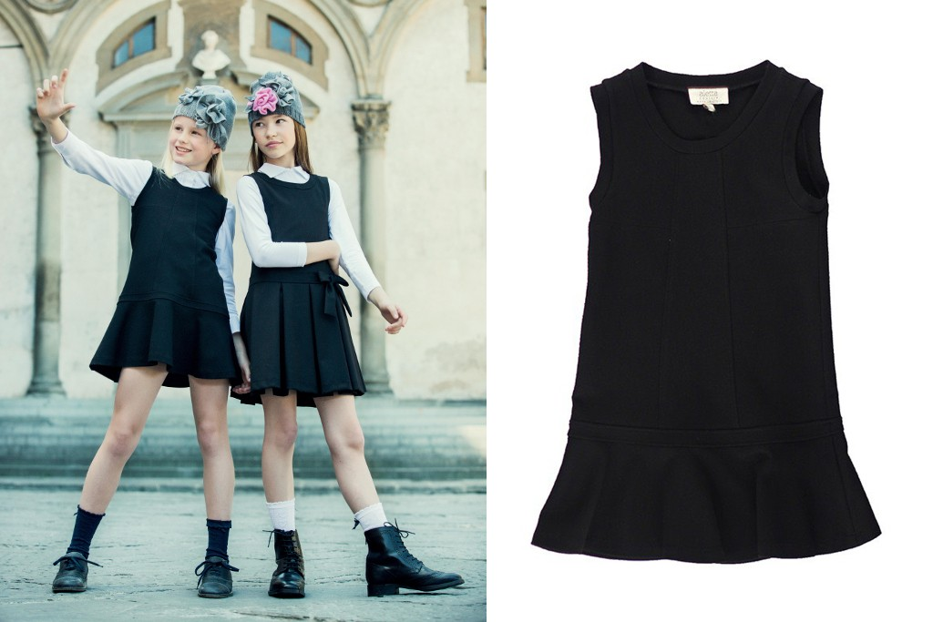 Aletta back to school 2015 black sleeveless pinafore dresses